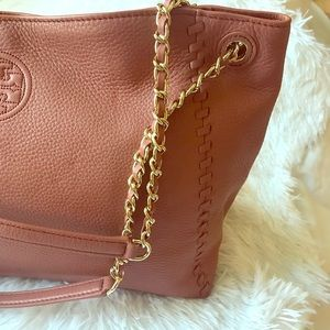 TORY BURCH Marion Chain Shoulder Slouchy Tote Bag
